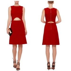 Suno | Sleeveless Cut Out Knee Length Dress Red 2